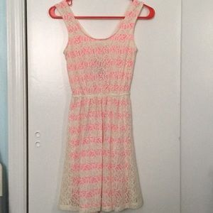 Mossimo Supply Co. Laced and Striped Dress